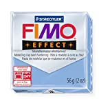 STAEDTLER FIMO Effect Agate Blue (386) FIMO Effect Effect Polymer Modelling Moulding Clay Block Colour 56g (Pack Of 10)