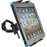 ChargerCity Strap-Lock Tablet Mount for Bicycle Treadmill Exercise Bike Boat Helm Handlebar w/ universal tablet holder for Apple iPad Mini Air PRO /Ipad Samsung Galaxy Tab Note (7-12inch Tablets)