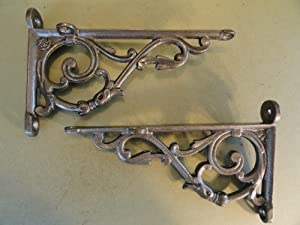 Pair of Victorian style Acanthus shelf brackets