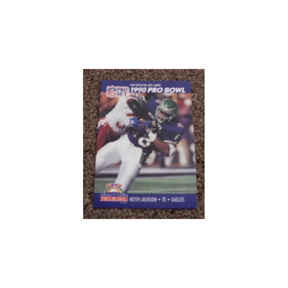 1990 Pro Set Keith Jackson # 396 NFL Football Pro Bowl Card