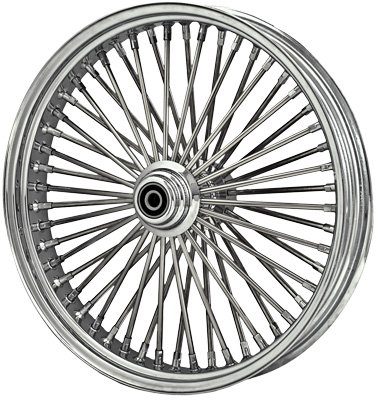 DNA Mammoth Spoke - 21in. x 3.5in. - Front Wheel , Position: Front, Rim Size: 21, Color: Chrome MS21580250 (21 Inch Chrome Rims compare prices)