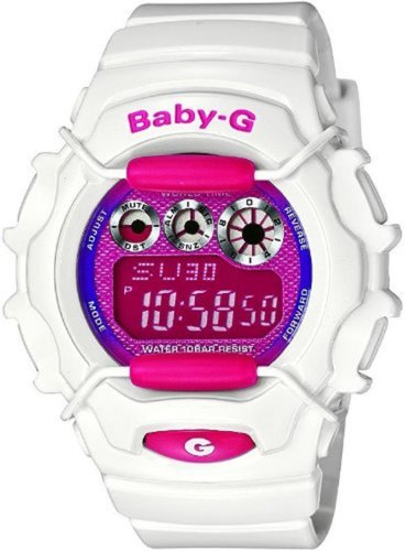 Casio Baby G Tough White Metallic Pink Dial Ladies Watch BG1006SA-7A