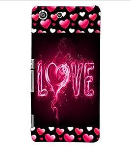 ColourCraft Love Design Back Case Cover for SONY XPERIA M5 E5603 / E5606 / E5653