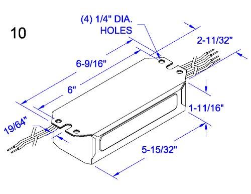 Robertson 3M10274 R12045P /A Mballast, Npf, 240/50 (1) 15/20W V2