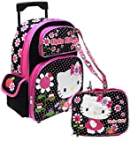 Hello Kitty Rolling backpack Lunch bag and Lanyard set – Ribbon Picture