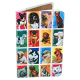 Dog Stamps Journal (Diary, Notebook) w/ Moleskine Cahier Pocket Cover by 11:11