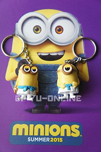 New-2-Pcs-Minions-Movie-Despicable-Me-Toy-Rubber-3D-KeyChain-Egipcio