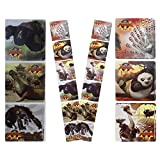 KUNG FU PANDA 2 STICKERS - Kung Fu Panda 2 Birthday Party Favor Sticker Set Consisting Of 45 Stickers Featuring...