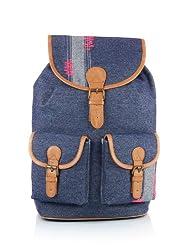 Shaun Design Denim Patchwork Backpack