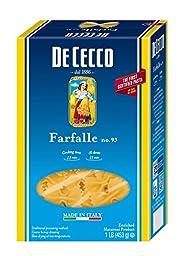 De Cecco Pasta, Farfalle, 16 Ounce (Pack of 5)