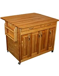 Catskill Craftsmen Butcher Block Workcenter PLUS with Drop Leaf by Catskill+Craftsmen