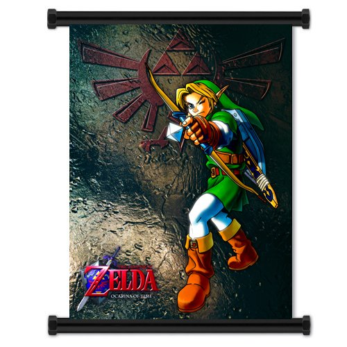 Legend of Zelda: Ocarina of Time Game Fabric Wall Scroll Poster (32