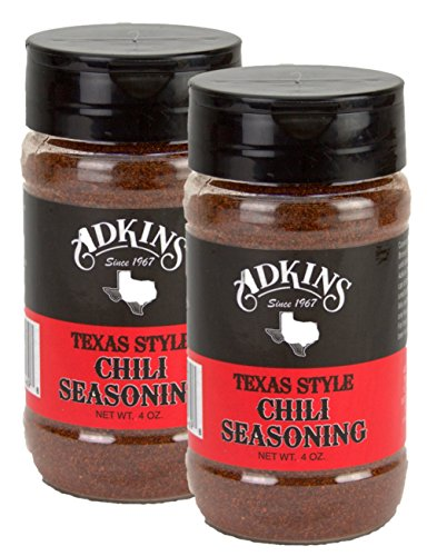 Adkins Texas Style Chili Seasoning 4 Oz. (Pack of 2) (Texas Chili Powder compare prices)