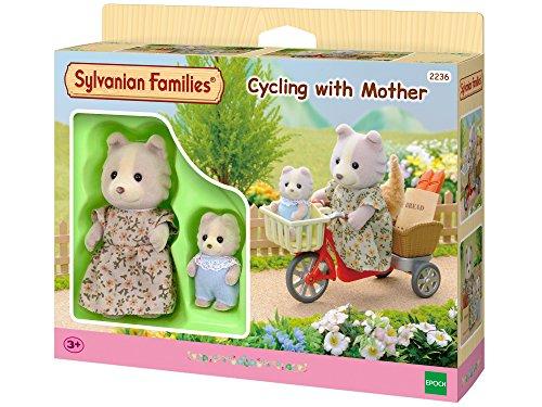 Sylvanian Family 2236 - Bicicleta con mamá y bebé perrito