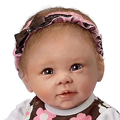 "Linda Murray Sweet Brown Eyed Girl Lifelike Poseable 20"" Baby Doll from Ashton Drake by The Ashton-Drake Galleries from The Ashton-Drake Galleries"