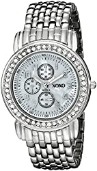XOXO Women's XO5314  Silver-Tone Rhinestone-Accented Watch