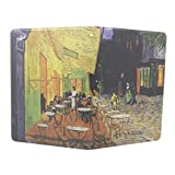 JMM - The Cafe Terrace on the Place,Arles,at Night Vincent van Gogh Painting Design PU Leather Protection Cover Case for Amazon Kindle Paperwhite (Both 2012 and 2013 versions with 6 Display and Built-in Light) Support Smart Cover Function + Credit Card Slot