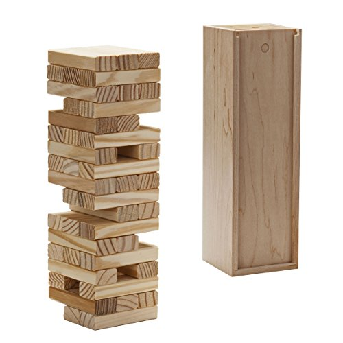 Tumbling Tower Game in Wooden Box (12 Inch when Packaged) - Made in USA