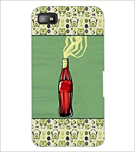 PrintDhaba Bottle D-4669 Back Case Cover for BLACKBERRY Z10 (Multi-Coloured)
