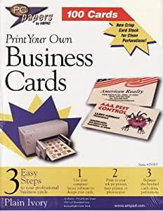 Amazon Print Your Own Business Cards Business Card
