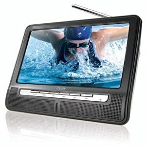 Coby TFTV891 8-Inch Portable Widescreen LCD TV with ATSC/NTSC Tuner and Integrated Telescopic Antenna (Black)