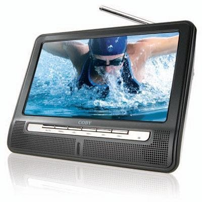 51pbJlNq5LL Coby TFTV891 8 Inch Portable Widescreen LCD TV with ATSC/NTSC Tuner and Integrated Telescopic Antenna (Black)