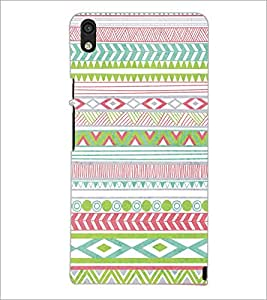 PrintDhaba Pattern D-5198 Back Case Cover for HUAWEI ASCEND P6 (Multi-Coloured)