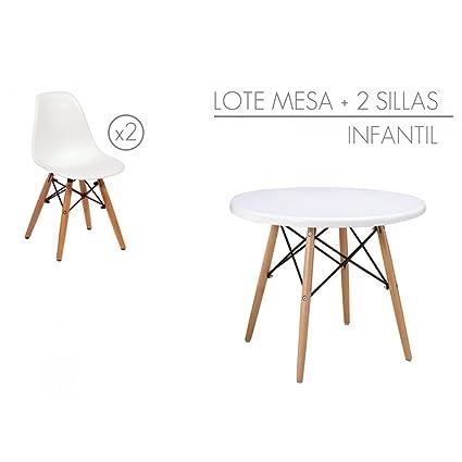Stapel - tisch mit 2 stuhlen