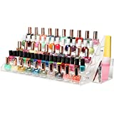 MyGift® (60 Bottle) Professional Clear Acrylic Nail Polish Rack Tabletop Display Stand w/ Filer & Brush Holder Cup