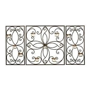 Amazon.com - Elements Metal 3-Panel Tea Light Sconce, 20-Inch
