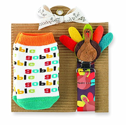 Mud Pie Turkey Sock And Pacy Set front-568215