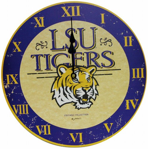 NCAA Louisiana State Fightin Tigers Large Clock