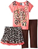 Pogo Club Little Girls' Patricia 3 Piece Dream Skin Lace, Medium Coral, Small