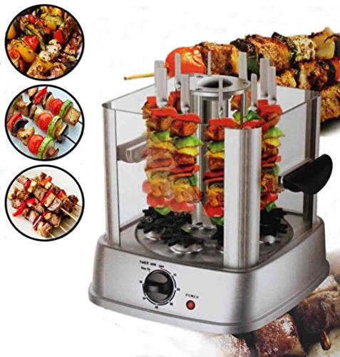 cravog-800w-halogen-rotating-vertical-grill-rotisserie-oven-bbq-kebab-vegetables