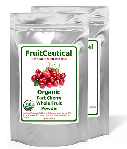 FruitCeutical Organic Tart Cherry Whole Fruit Powder (Not an Extract) - Satisfaction Guaranteed - 2 Pouches (Organic Freeze Dried Eggs compare prices)