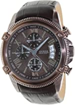 GUESS Dressy Sport Chronograph Watch - Brown I