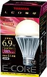 TOSHIBA E-CORE LED電球 一般電球形6.9W(電球色相当) LEL-AW6L/2