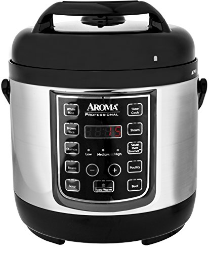 Aroma Housewares APC-805SB 8 Cup Cooked, 4 Cup Uncooked Digital Cool Touch Turbo Rice Pressure Cooker, Silver (4 Cup Pressure Cooker compare prices)