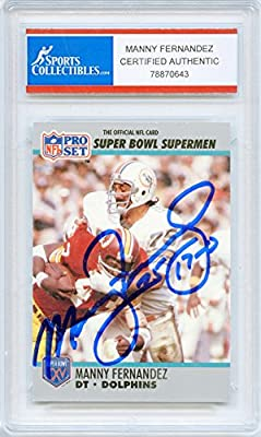 Manny Fernandez Autographed Miami Dolphins Encapsulated Trading Card - Certified Authentic