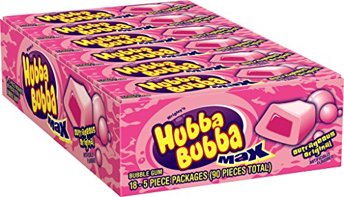 Hubba Bubba Max Bubble Gum, Original, 5-Piece Packs (Pack of 36) (Year Supply Of Gum compare prices)