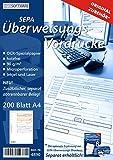 SEPA Überweisungsvordrucke, 200 Blatt DIN A4, 90 g/m², HPH Original-Zubehör, Best.-Nr. 4890