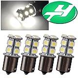YINTATECH LED Car Lights Bulb 1156 BA15S 13-SMD 5050 Car RV Backup Reverse Light Bulbs 1141 1073 1093 1129 DC 12V White 6000K (Pack of 4)