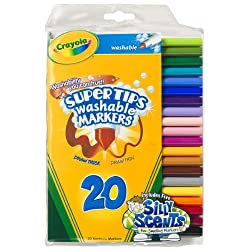 [Best price] Arts & Crafts - Crayola 20ct Washable Super Tips (5 Fun-Scented Markers Included) - toys-games