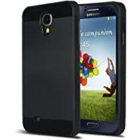 Galaxy S4 Case, S4 Case - ULAK Hybrid Slim Hard Back Case Cover Rubber Bumper 2in1 Rigid Plastic Shell + TPU Daul...