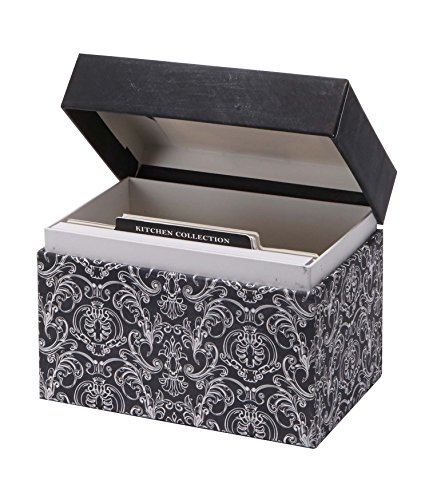 C.R. Gibson Recipe File Box With Cards, Savory Eats front-13717