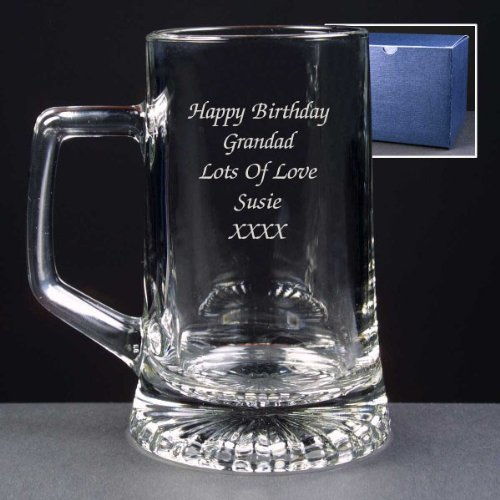 personalised tankard Gift upto 5 lines of text best man birthday christmas gift.