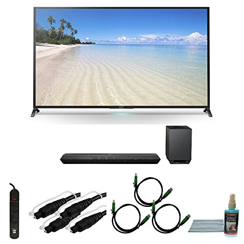 "60"" 1080P 120Hz Smart 3D Led Hdtv Wifi Plus Tilt Mount Hookup Bundle Kdl60W850B. Bundle Includes Tv, Hd Sound Bar, Surge Strip With Usb, Screen Cleaning Kit, 2 6Ft Optical Audio Cables, And 3 6Ft Hdmi Cables."