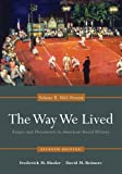img - for The Way We Lived: Essays and Documents in American Social History, Volume II: 1865 - Present book / textbook / text book