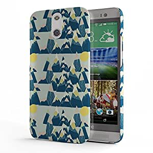 Koveru Designer Printed Protective Snap-On Durable Plastic Back Shell Case Cover for HTC One E8 - Yellow Leah Duncan Pattern