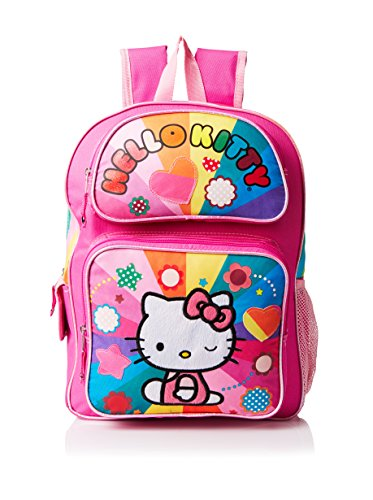 Hello-Kitty-Girls-Rainbow-Hearts-Backpack-Multi
